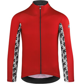 assos Mille GT Summer Langarm Trikot Herren national red